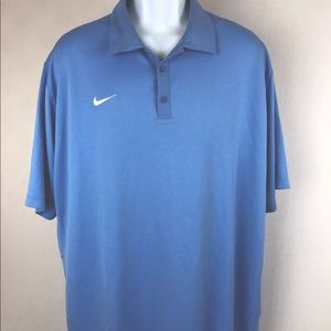 Nike Dri Fit Mens 2XL Polo Shirt Short Sleeve
